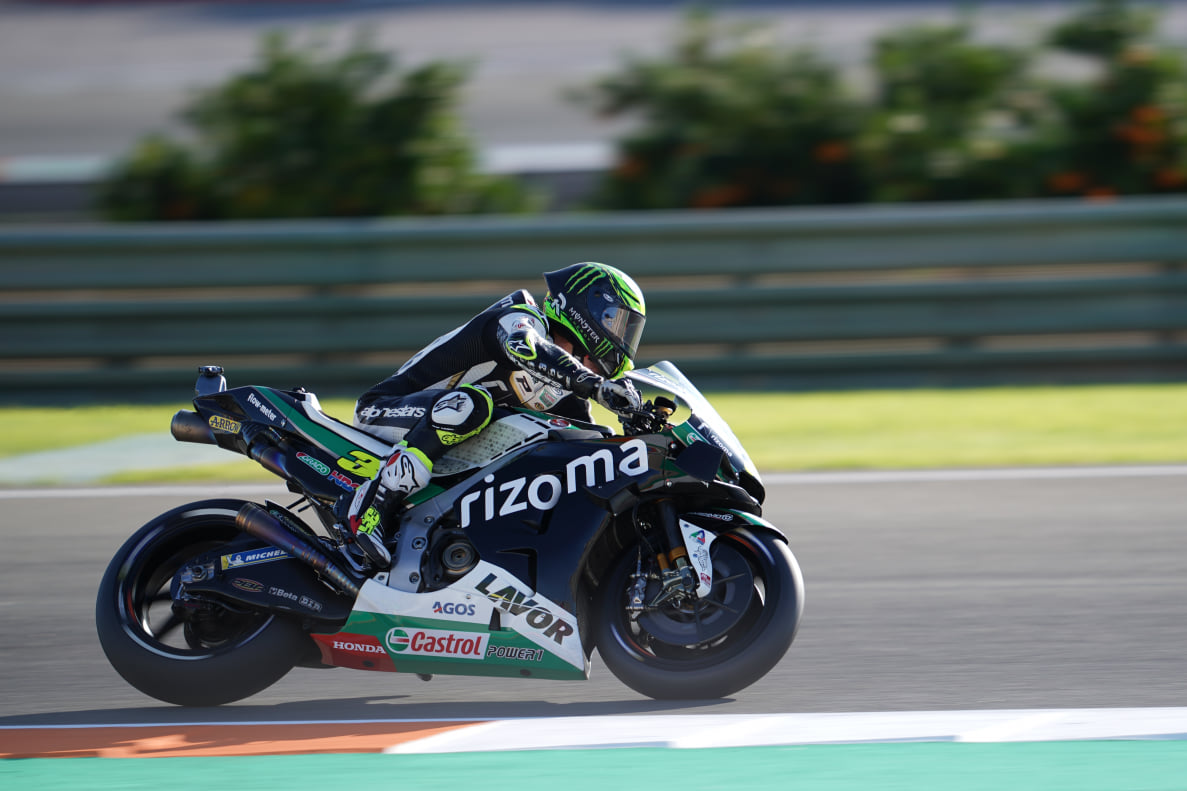 Third row for Crutchlow in Valencia